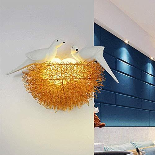Wandlampe LED Vogelnest Wandleuchte Gang Korridor Esszimmer Wohnzimmer Schlafzimmer Arbeitszimmer Treppe Balkon Gold Warm Gelb Licht Modern Einfach Aluminium Harz Glas Persönlichkeit Entdecken Sie das -