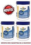 SANITY WC Pulver 15Beutel für Abwassertank schwarze princio Aktiv Aqua Sachets–Angebot für 3Dosen mit 15Beuteln