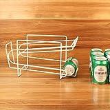 uxradg Kühlschrank Organizer Halter kann Bier Getränk Soda Kunststoff Spender Rack Halter Organisieren Aufbewahrung Kühlschrank Getränkehalter 20.5*13*18cm weiß