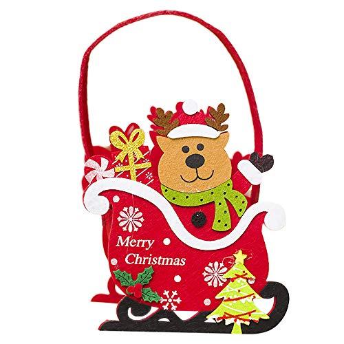 SUCES Weihnacht Mini Korb Weihnachtssüßigkeit Geschenktüte Handtasche Geschenk Party Beutel Candy...