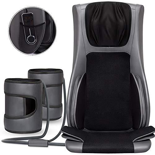 ZHHME Massagesessel - Massagesitzauflage - Massagekissen mit Wärmefunktion - mit Höhenverstellbarer Nackenmassage - Zur Entspannung für Den Gesamten Rücken -
