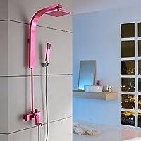 ZHGI Set doccia colore dei vestiti, oro nero spazio alluminio personalità creativa doccia teste, schermo della doccia,D