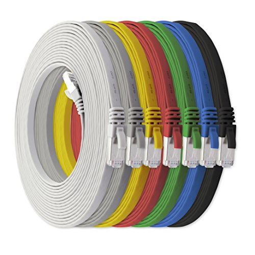 10m - CAT7 cable de red plano | 7...