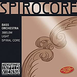 Thomastik Spirocore, Double Bass Strings, Complete Set, 3885, WEICH (Light), 3/4 Size, Orchestral Tuning