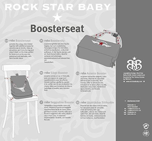 roba Boostersitz Rock Star Baby in grau, mobiler und aufblasbarer Kindersitz als Reisesitz und Sitzerhöhung, ideal als Hochstuhl für unterwegs für Babys und Kleinkinder - 10
