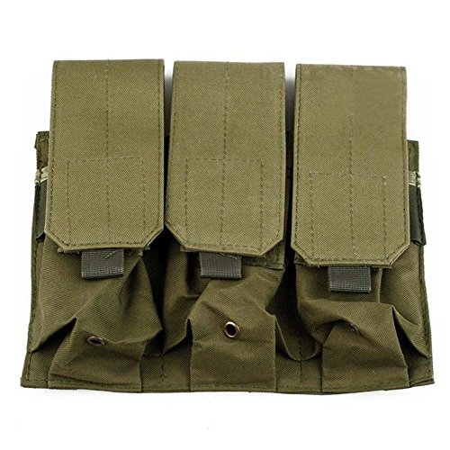 Ruifu Outdoor Camouflage Tactical PALS MOLLE AR M4 5.56/.223 Triple Magazine Pouch Mag Holder For Pistol Hand