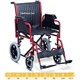 FC Folding Wheelchair - Detachable Armrest/Foot Rest Wheel Chair