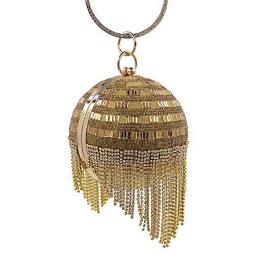 Bag Diamante Sera Di Lusso Di Diamanti Banchetto Di Alta Qualità Delle Donne Gold