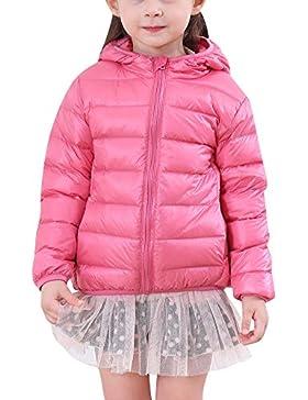 Niños Niñas Infantil Abrigos de Plumas con Capucha Cálido Ligera Chaquetas de Invierno