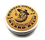 Honest Amish Beard Balm Leave-in Conditioner - All Natural -Vegan Friendly Organic Oils and Butters by Honest Amish