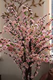 Homescapes Plante Cerisier Prunus artificiel du Japon en fleur Coloris rose 153 cm