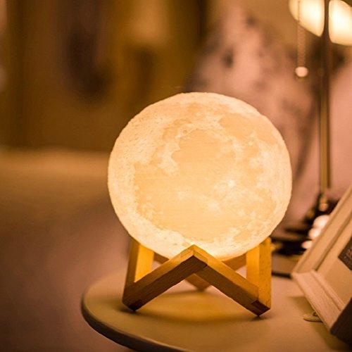ED Beste Hauptdekorative und Romantisches Geschenk 3D Mond Lampe Geschenk für Baby & Kinder & Freunde auf Halloween Weihnachten Und Geburtstag By NYGY (20CM) (Halloween-tag Bedeutung)