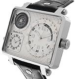 Boudier & Cie XL Herren-Armbanduhr Quarz Analog Leder Schwarz - OZG1151 (OZG1134)