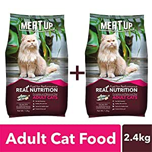 Meat Up Ocean Fish Adult Cat Food, 1.2 kg (Buy 1 Get 1 Free)
