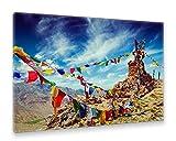 Postereck - Premium Leinwand - 2595 - Gebetsfahnen,