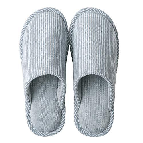 Acmede pantofole da casa uomo donna pantofole a righe ciabatte antiscivolo confortevole per casa per estate primavera, autunno inverno