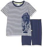 Sanetta Jungen Zweiteiliger Schlafanzug 232105 Short, Blau (Washed Blue 50110), 128