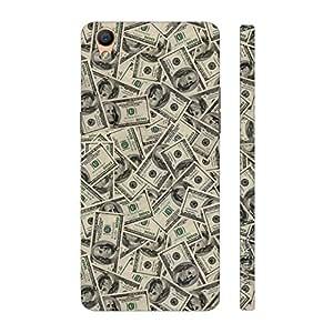 Enthopia Designer Hardshell Case Money Money Back Cover for Oppo F1 Plus