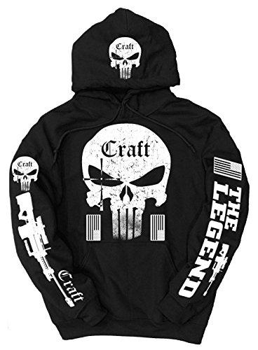 craft-felpa-con-cappuccio-uomo-black-x-large