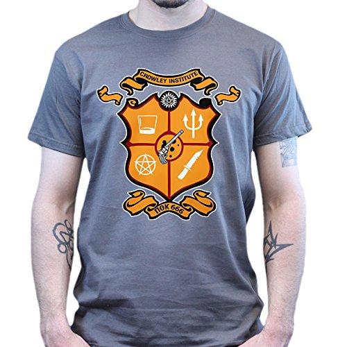 Crowley Institute Fraternity Super Natural T-shirt Dunkelgrau