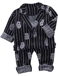 12bcdedf1870f IEUUMLER 2 pcs bébé garçon Vêtements Définit Costume Manteau Gentleman Suit  de Mariage Cérémonie ...