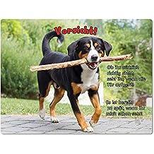 Merchandise for Fans Blechschild/Warnschild/Türschild - Aluminium - 20x30cm - mit Spruch - Motiv: Entlebucher Sennenhund - 01