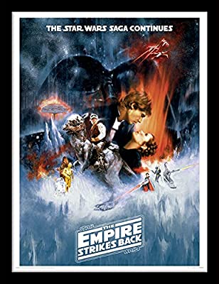 "Star Wars 30 x 40 cm ""L'Empire contre-attaque One Sheet Affiche encadrée"
