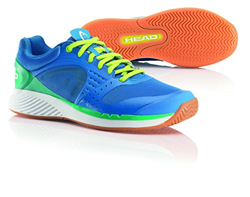 HEAD Herren Sprint Pro Squashschuhe Blau (Blue/Yellow/Mint Blym) 46.5 EU