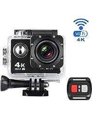 """Action Kamera, MixMart Wasserdichte WiFi Action Kamera Sports Kamera 170 ° Weitwinkel mit 16 MP, 4k, HD 2.0"""" LCD mit 2 Verbesserten Batterien und Zubehör Kits"""