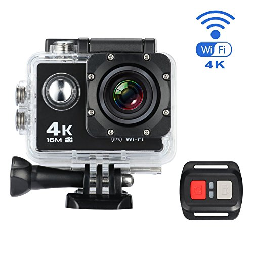 Action Kamera, MixMart Wasserdichte WiFi Action Kamera Sports Kamera 170 ° Weitwinkel mit 16 MP, 4k, HD 2.0