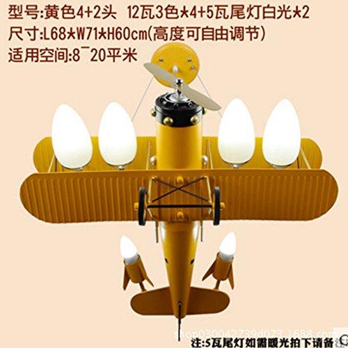 Hampton Vier Licht (Self-My Deckenbeleuchtung Kinderzimmer Cartoon Ideen Des Flugzeuges Jungen Persönlichkeit Amerikanische Schlafzimmer Led Gelb 4+ 2-12 W Tri-Color Glühlampe Weißes Licht 4 Sub-Paragraph Kronleuchter)
