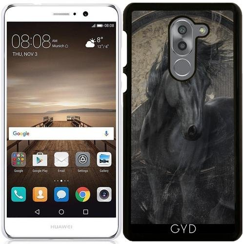 519jgy21 WL UK BEST BUY #1Case for Huawei Mate 9 Lite   Gothic Friesian Horse by Gatterwe price Reviews uk