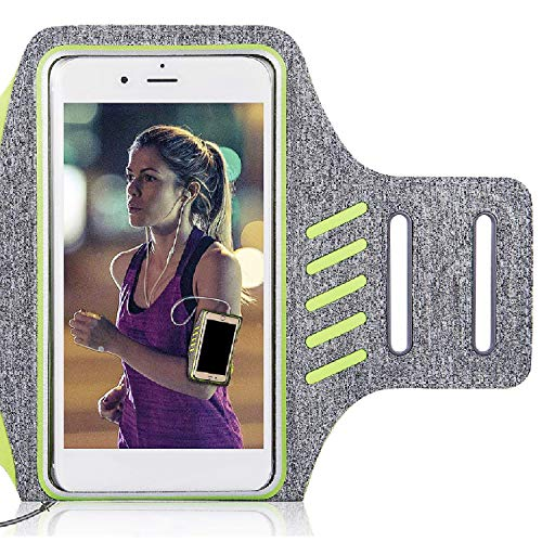 Zeonetak Wholesomeness Moil Ass against Gold medal Solid Sports Arm Band for Samsung S8 Plus \ S8 \ Pro \ Pro \ S7 S8 + \ Note 8 \ C9 °C7 S7 Vehemence, iPhone XS\ MAX\ XR\ 8 \ 7 \ 6 \ 6S, Google Pixel with Fingerprint Unlock Adjustable Meditating