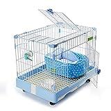 Pet Playpens Outdoor Dog Pens Houses Habitats for Small Animals, 5 Pieces Of Steel Wire with Door, blue