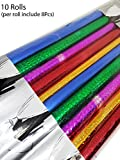 #5: Inaaya Colourful Gift Wrapping Plastic Sheets Gift Wrapping Sheets Rolls Gift Wrapping Plastic Sheets For Any Occasion Multicolor 10 Pack Of 1