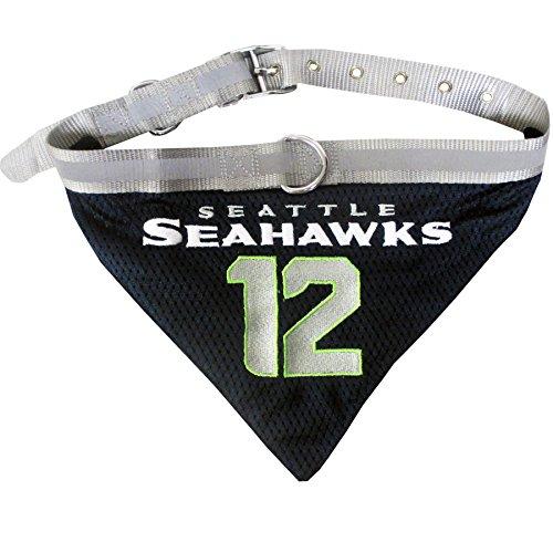 Pets Erste NFL Seattle Seahawks Nr. 12Man Pet Bandana, groß (Bandana Pet Nfl)