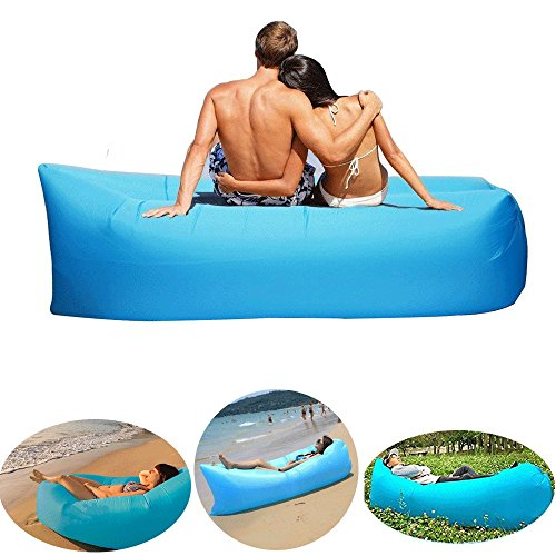 Beileer Tumbona Hinchable sofá Hinchable Impermeable con Bolsa de Transporte para Playa,...