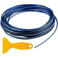 ZWOOS 5M Tiras Líneas de Molduras Interior del Coche Decoración Moulding Trim Strip Línea (Azul)