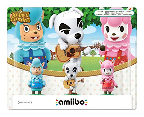 Pack de 3 Amiibos 'Animal Crossing' - Kéké + Risette + Serge