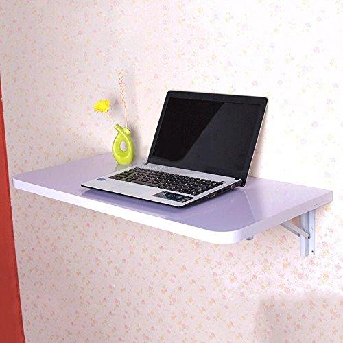 FEI Table pliante, Table murale, Bureau de table à abattant mural, Table de salle à manger en bois cuisine 6 couleurs (Couleur : Blanc, taille : L50*W30cm)