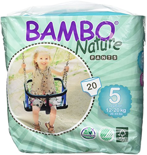 Bambo Nature Junior Pull Up pantalones de entrenamiento para – Pack de 5
