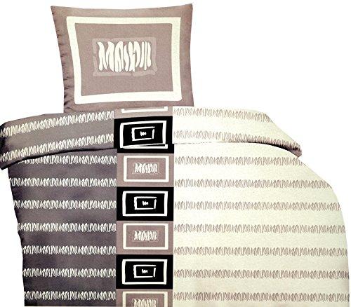 Leonado Vicenti 2-teilig Bettwäsche Microfaser 135 x 200 cm Karo Modern Bezug mit Reißverschluss,...