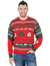 Star Wars Darth Vader Stormtrooper Heads At-At Erwachsene Rot hässlich Weihnachten Sweater