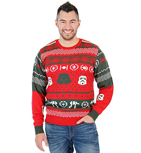 Star Wars Darth Vader Stormtrooper Heads At-At Erwachsene Rot hässlich Weihnachten Sweater