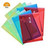meetory Größe 100Buchstaben Poly Saite Umschlag, bunt durchscheinend mit Dehnfalte, 5Transluzent Farbe