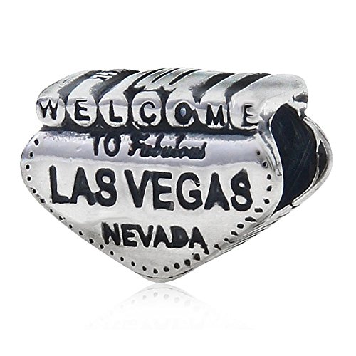 Welcome to las Vegas Nevada charm in argento Sterling 925Anniversary charm per braccialetti Pandora