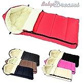 Los bebés-Dreams Winterfußsack **8 coloures** Forro 108 cm para cochecito de lana de cordero nuevo invierno saco de lana bolsa