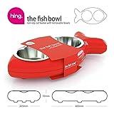 Katzennapf in Fischform – für Wasser und Futter, rot - 4