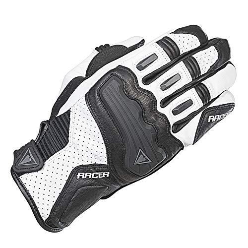 Racer Guide Handschuh, Weiß, Größe S