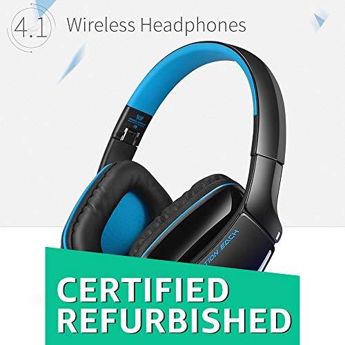 (Renewed) Kotion Each B3506 Wireless Bluetooth Headphone with Mic (Black/Blue)